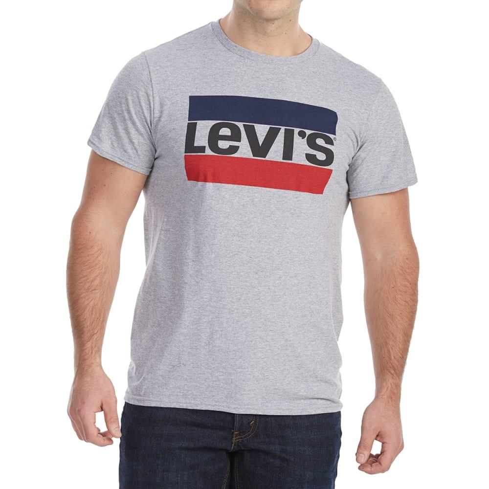LEVI'S Guys' Sportswear Short-Sleeve Graphic Tee - HEATHER GREY