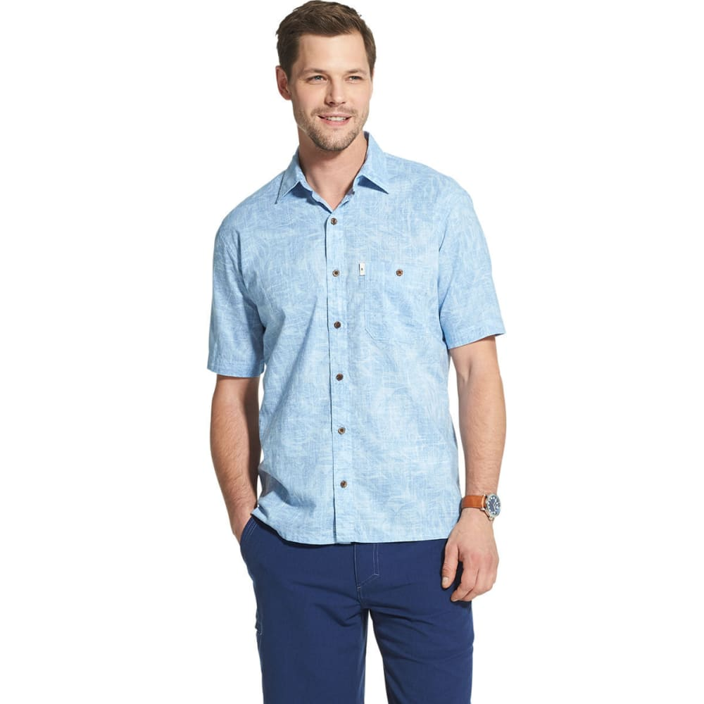 G.H.BASS & CO. Men's Short-Sleeve Bass Salt Cove Slubbed Button-Down Shirt - CHAMBRAY-400