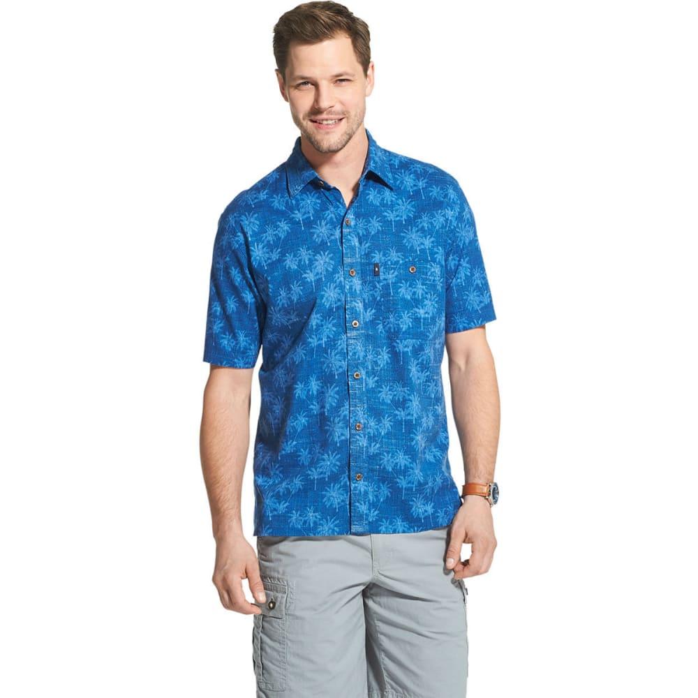 G.H.BASS & CO. Men's Short-Sleeve Salt Cove Palm Print Button Down Shirt - RIVERSIDE-422
