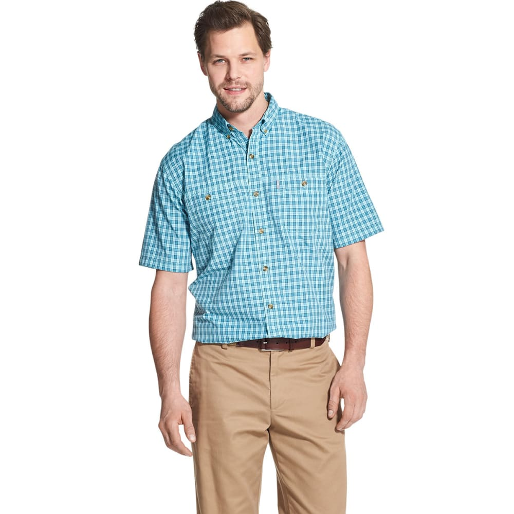 G.H. BASS Men's Bluewater Bay Short-Sleeve Shirt - AQUA SPLASH-477
