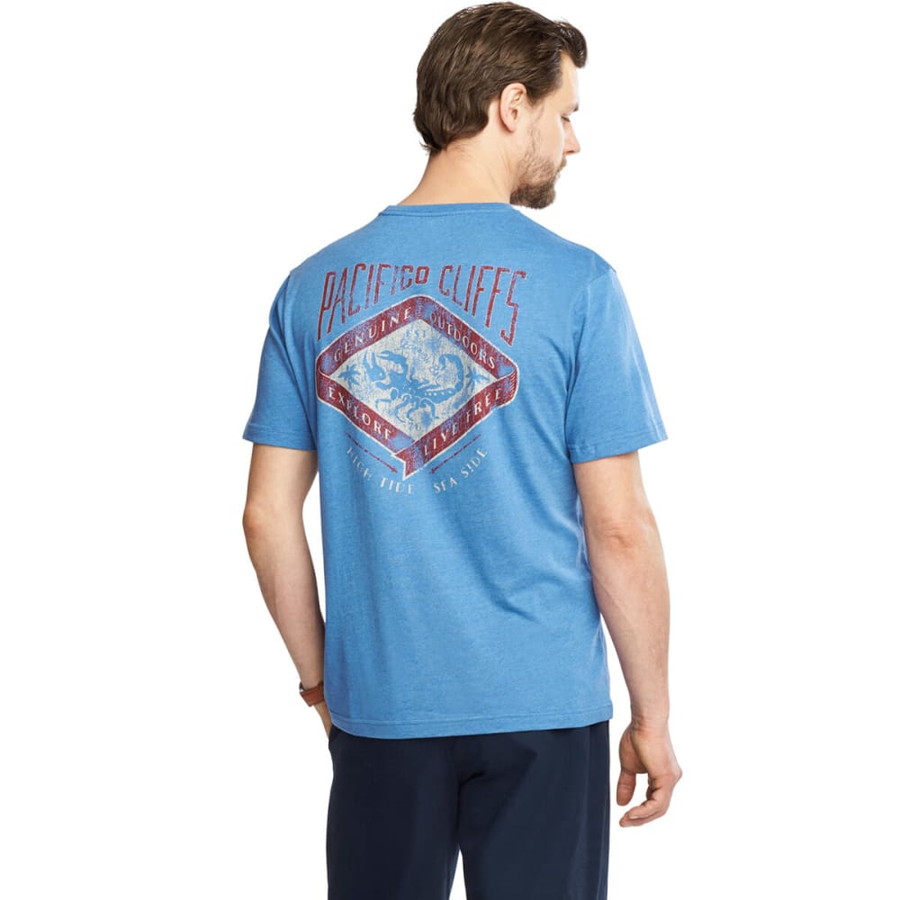 G.H.BASS & CO. Men's Pacifico Cliffs Graphic Tee - RIVERSIDE HETHER-423