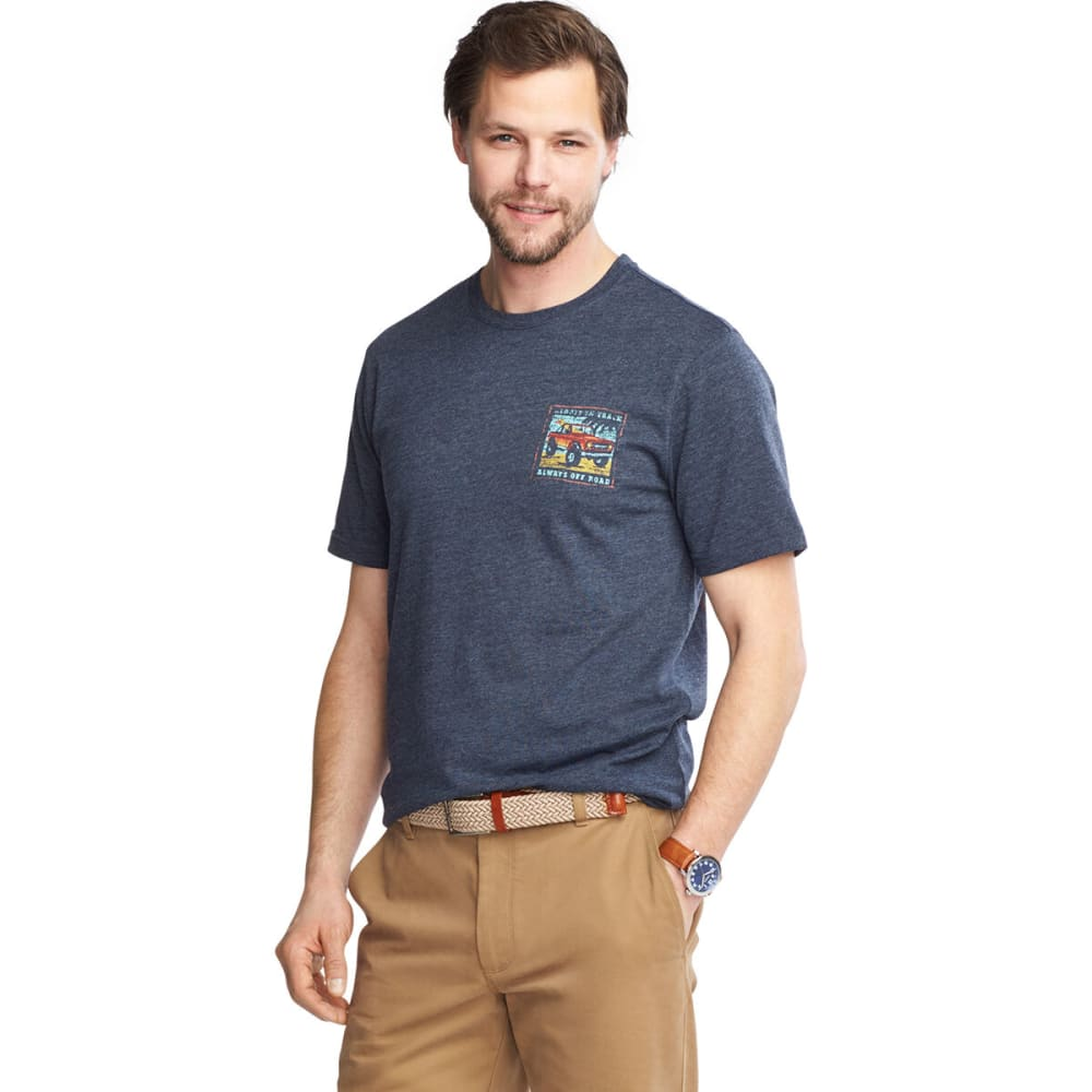 G.H. BASS & CO. Men's Off Road Graphic Short-Sleeve Tee - NAVY