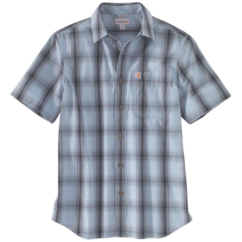 CARHARTT Men's Essential Plaid Open Collar Short-Sleeve Shirt S