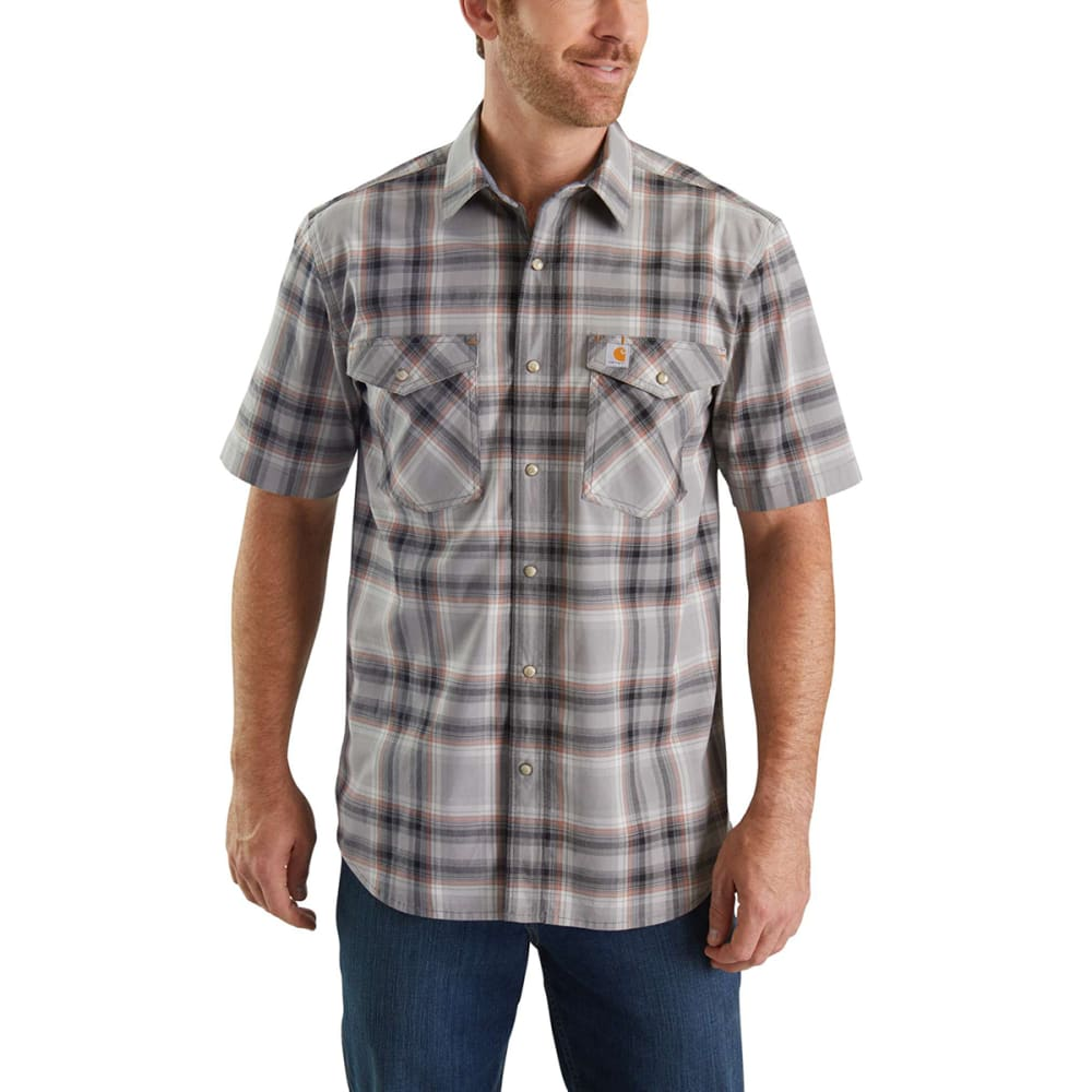 c26fcd1ce6e CARHARTT Men  39 s Rugged Flex Bozeman Short-Sleeve Shirt - 066 ASPHALT