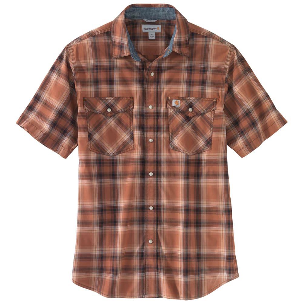 CARHARTT Men's Rugged Flex Bozeman Short-Sleeve Shirt - 220 SEQUOIA