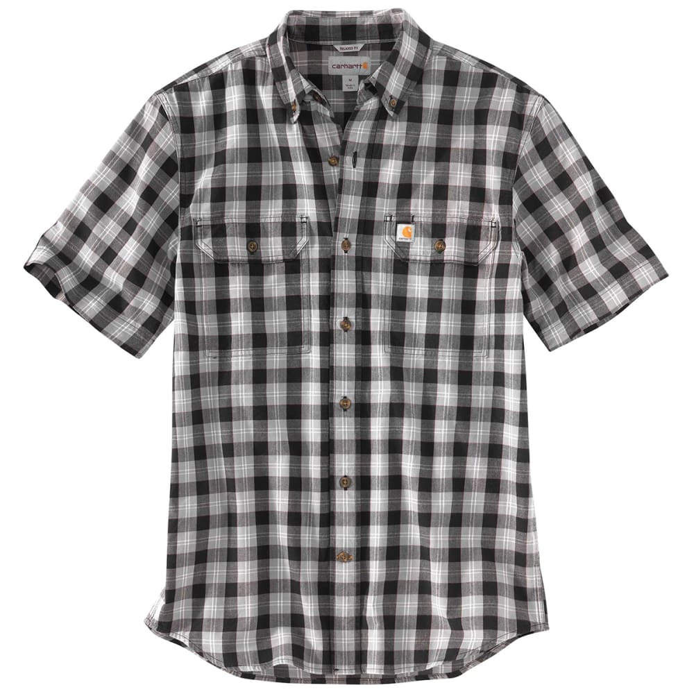 CARHARTT Men's 103553 Fort Plaid Short-Sleeve Shirt - 001 BLACK