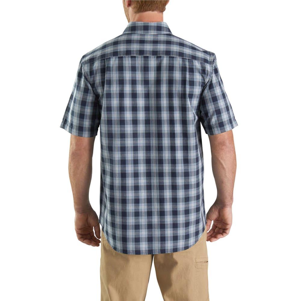 CARHARTT Men's 103553 Fort Plaid Short-Sleeve Shirt - 412 NAVY