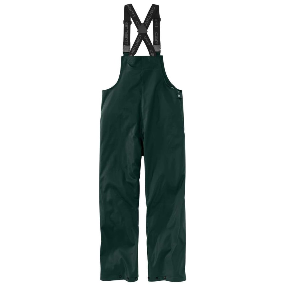 CARHARTT Men's Lightweight Waterproof Rainstorm Bib Overalls - GREEN