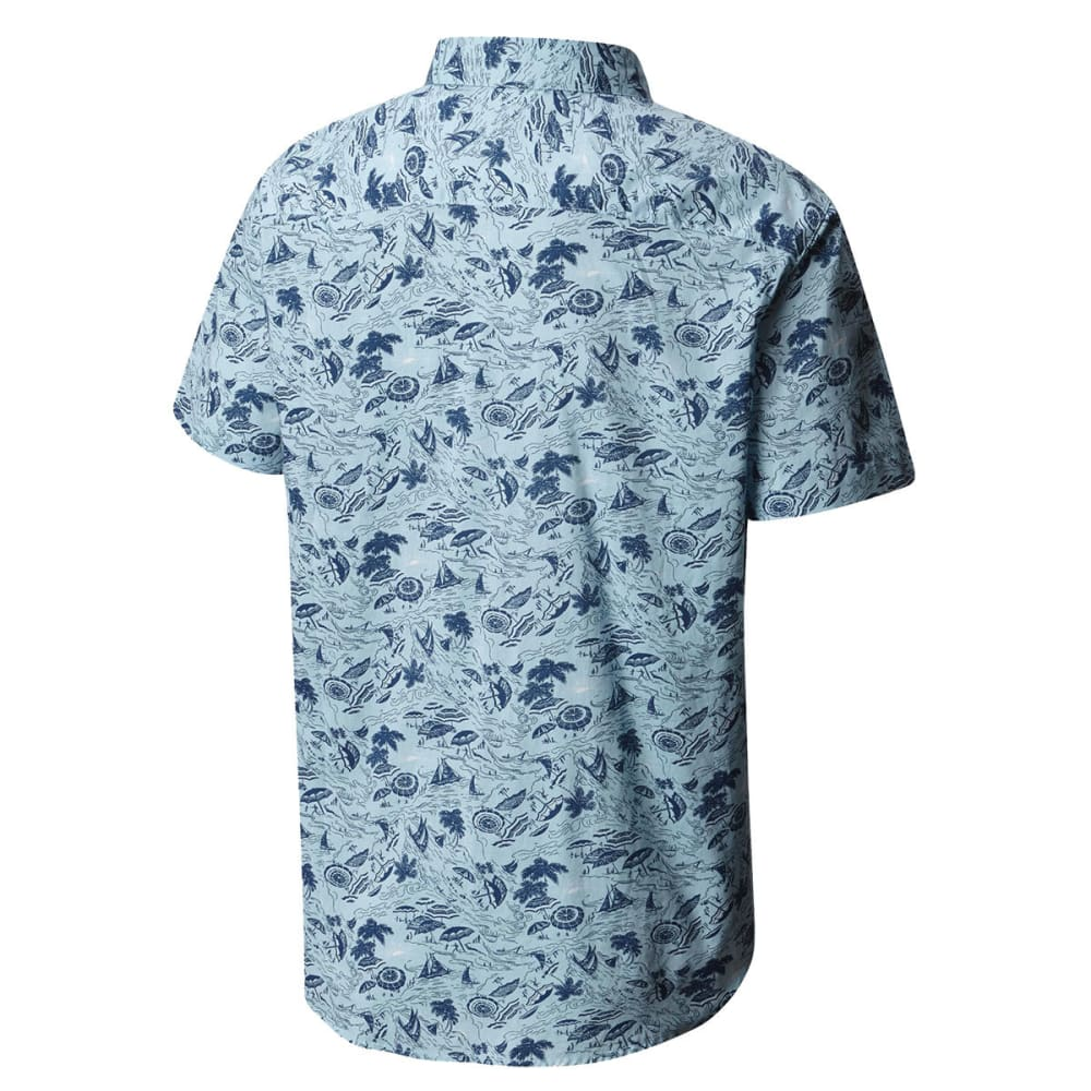 COLUMBIA Men's Rapid Rivers™ Printed Short-Sleeve Shirt - 440 BLUE SKY CAMPFET