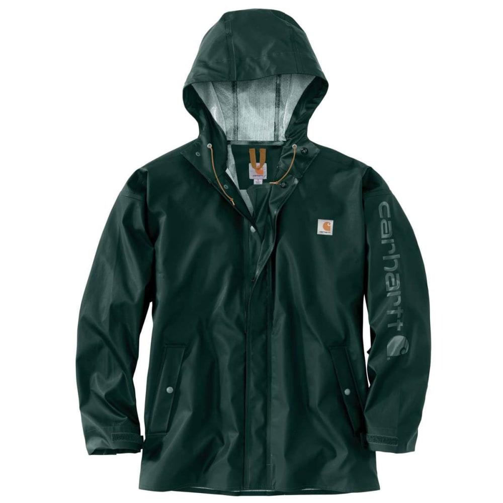 CARHARTT Men's Lightweight Waterproof Rainstorm Jacket - GREEN