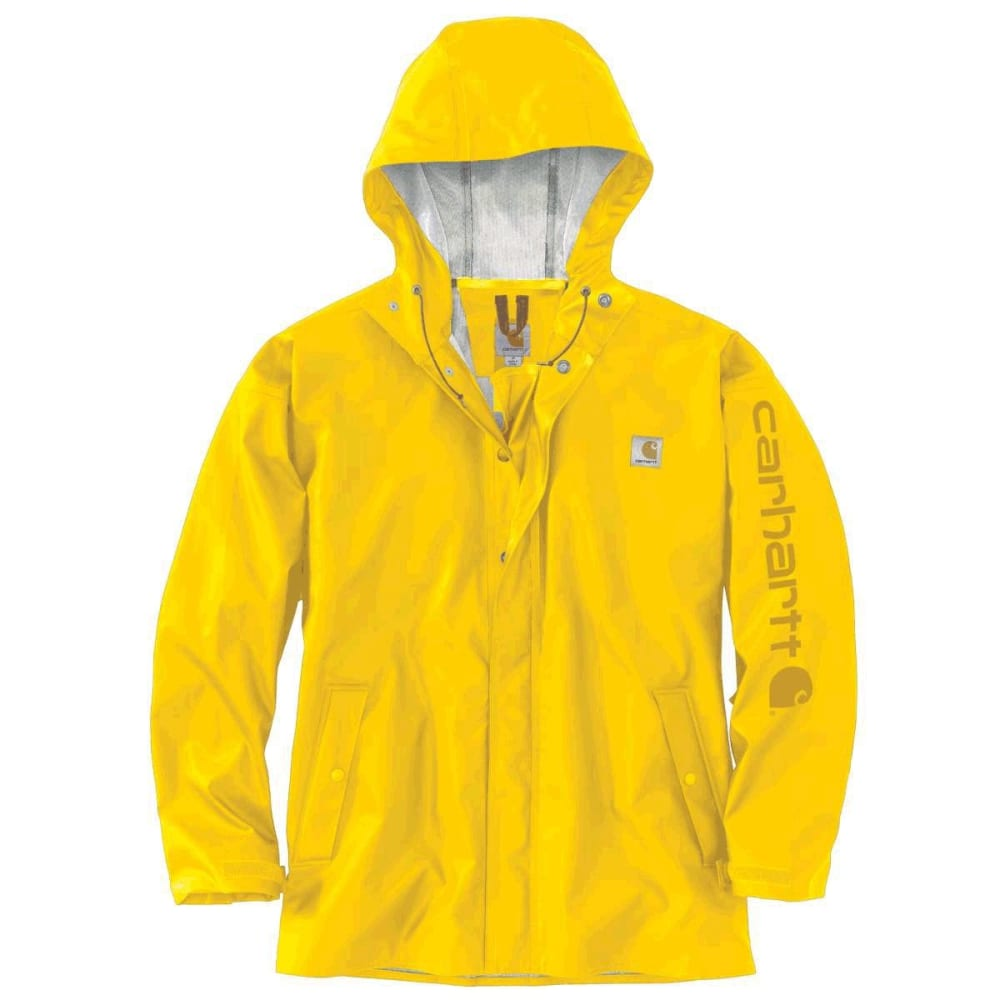 CARHARTT Men's Lightweight Waterproof Rainstorm Jacket - YELLOW