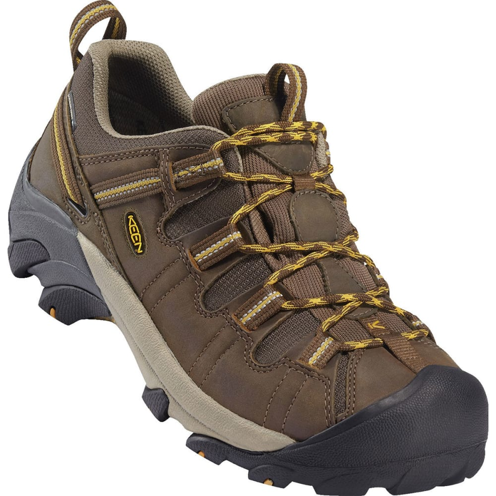 KEEN Men's Targhee II Waterproof Low Hiking Shoes, Wide - CASCADE BROWN/GOLDEN