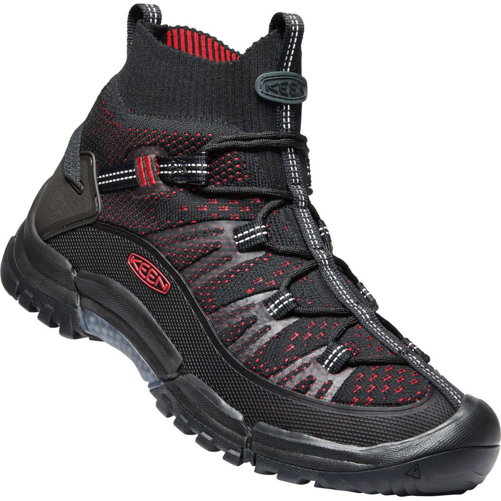 KEEN Men's Axis Evo Mid Knit Hiking Boots - BLK/TANGO RED
