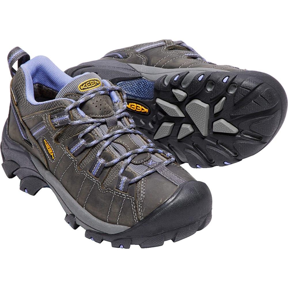 KEEN Women's Targhee II Waterproof Low Hiking Shoes - MAGNET/PERIWINKLE
