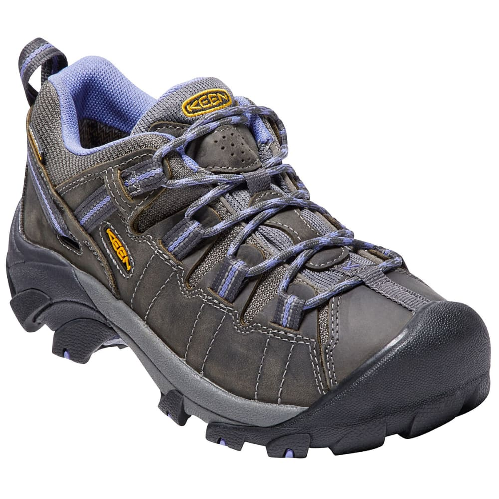 KEEN Women's Targhee II Waterproof Low Hiking Shoes - MAGNET/PERIWINKLE