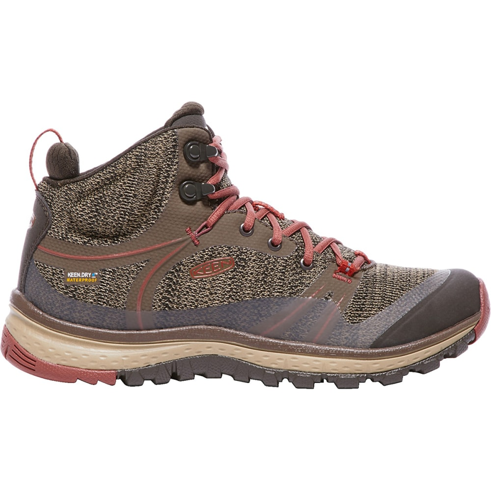 KEEN Women's Terradora Waterproof Mid Hiking Boots - CANTEEN/MARSALA