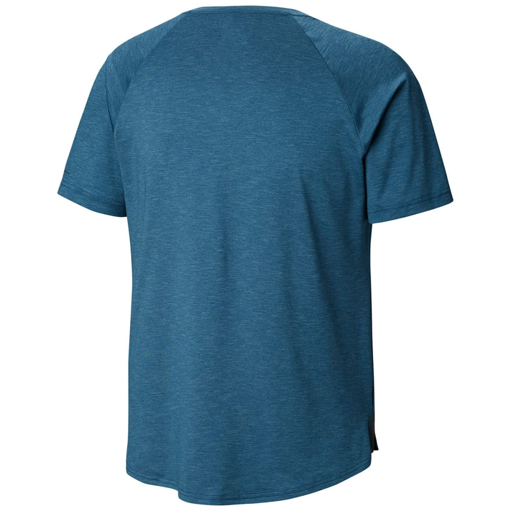 COLUMBIA Men's Tech Trail II Short-Sleeve Crew - PETROL BLUE-403