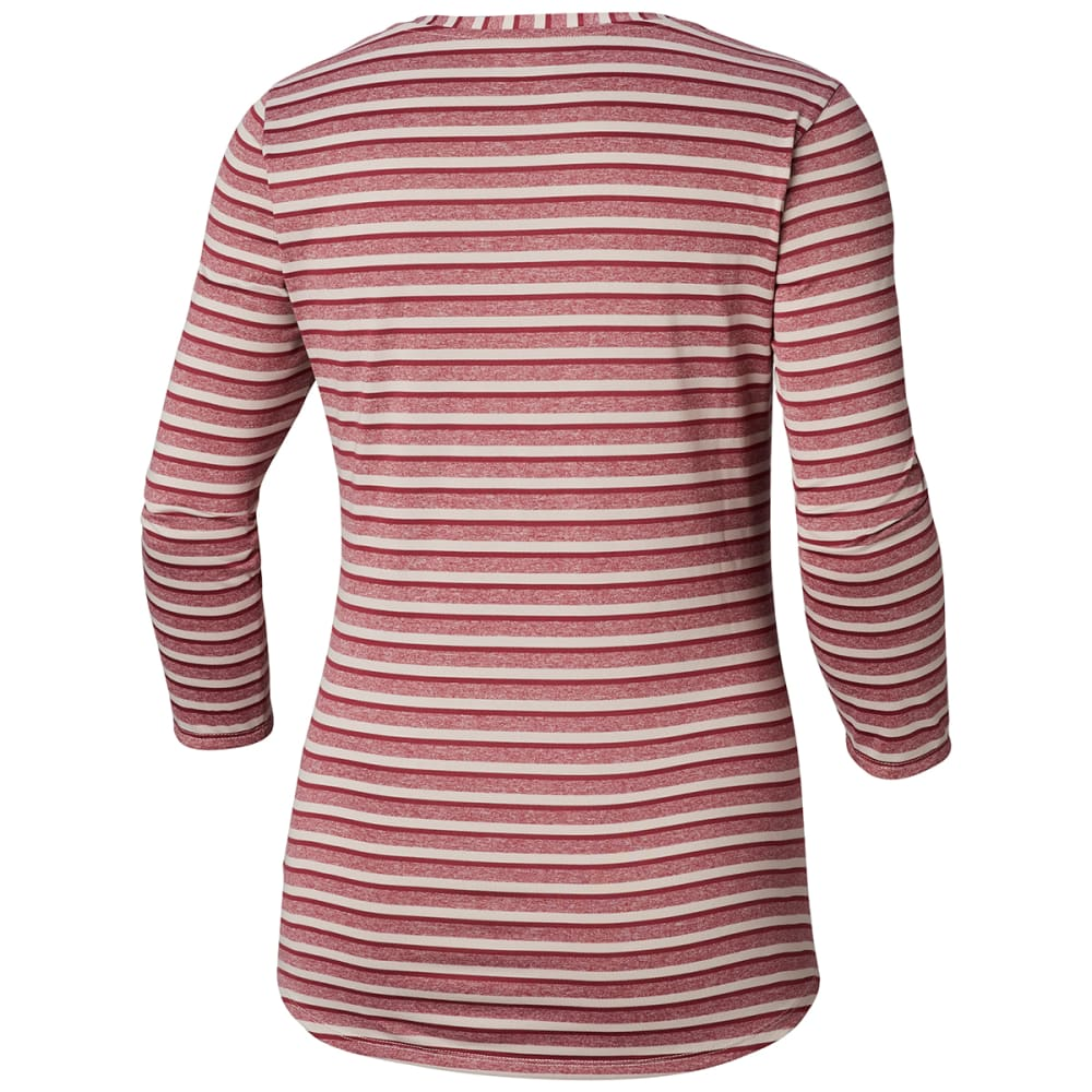 COLUMBIA Women's Walkabout Long-Sleeve Henley - 618-MINERAL PINK STR
