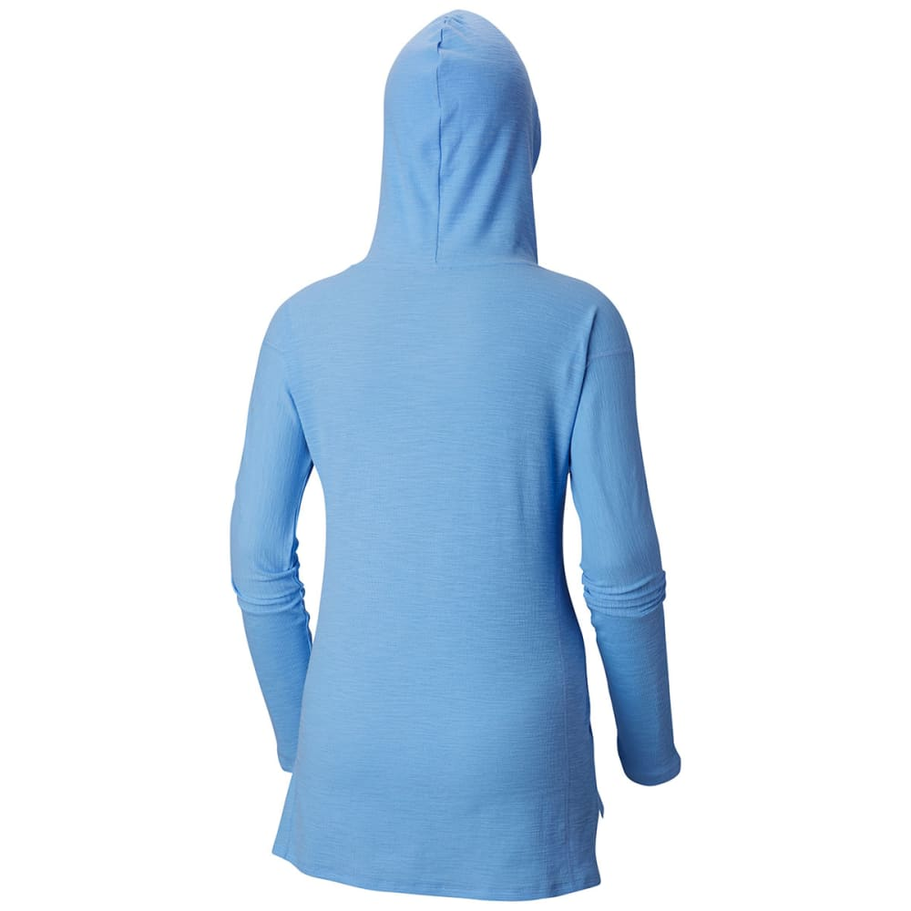 COLUMBIA Women's Longer Days Pullover Hoodie - 450-WHITE CAP STRIPE