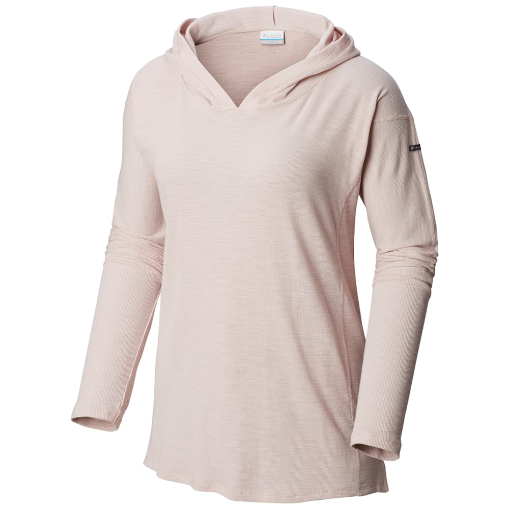 COLUMBIA Women's Longer Days Pullover Hoodie - 618-MINERAL PINK STR