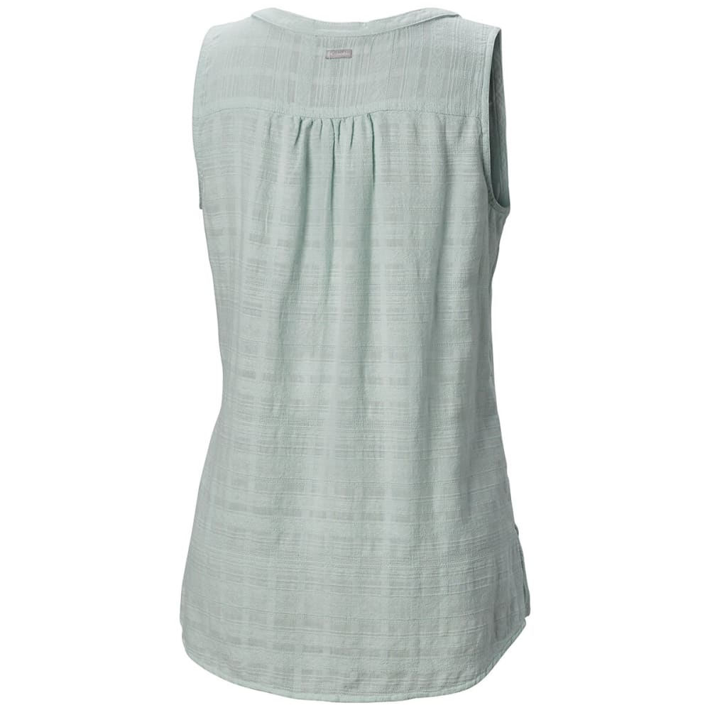 COLUMBIA Women's Summer Ease Sleeveless Shirt - 335-COOL GREEN