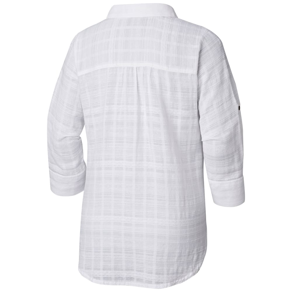 COLUMBIA Women's Summer Ease Long-Sleeve Popover Tunic Top - 100-WHITE