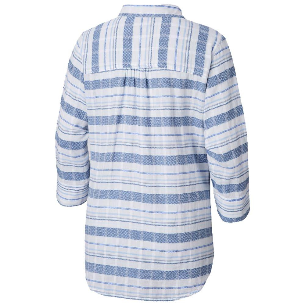 COLUMBIA Women's Summer Ease Long-Sleeve Popover Tunic Top - 456-BLUE DUSK STRIPE