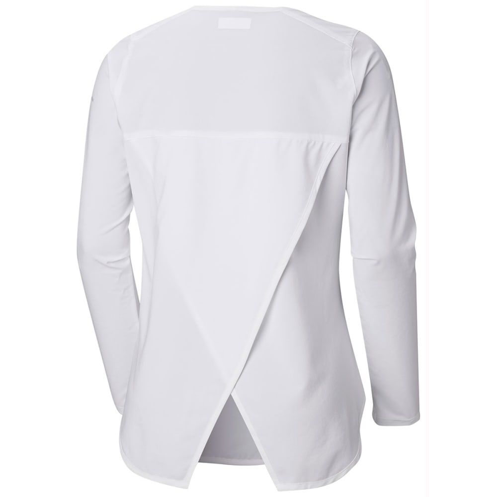 COLUMBIA Women's Place To Place Long-Sleeve Sun Shirt - 100-WHITE