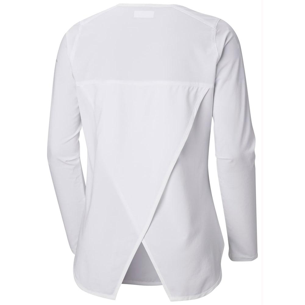 COLUMBIA Women's Place To Place Long-Sleeve Sun Shirt - 100-WHITE
