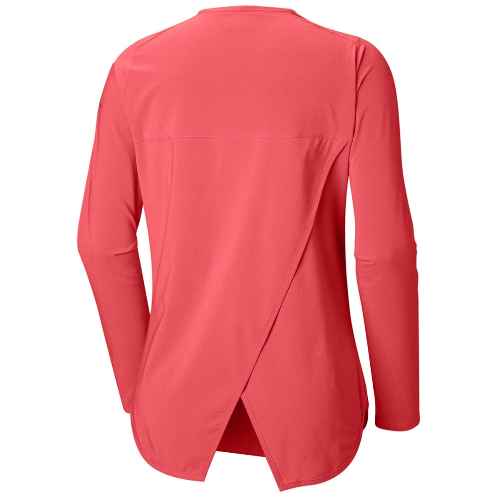COLUMBIA Women's Place To Place Long-Sleeve Sun Shirt - 633-RED CORAL