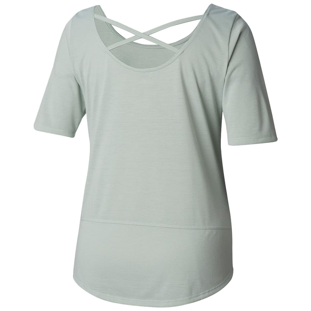 COLUMBIA Women's Anytime Casual Short-Sleeve Shirt - 335-COOL GREEN