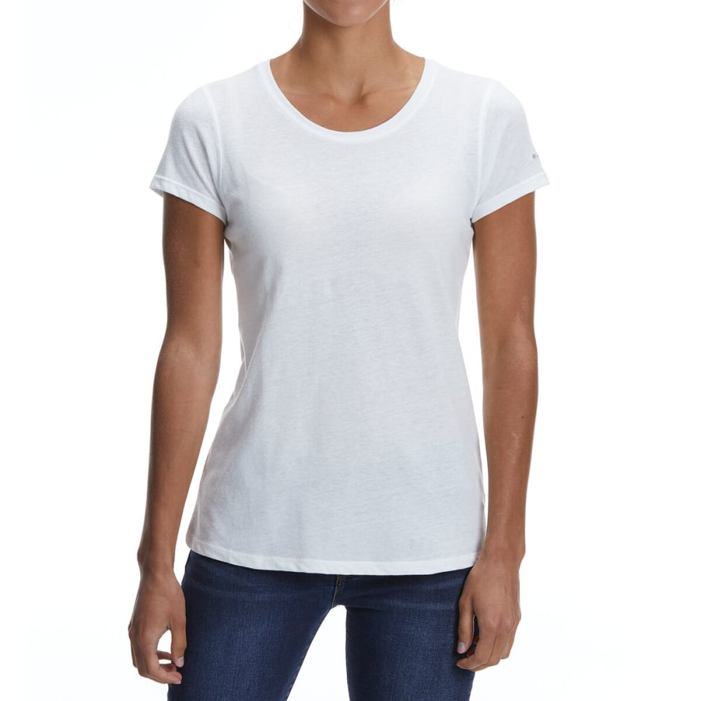 COLUMBIA Women's Solar Shield Short-Sleeve Shirt - 100-WHITE
