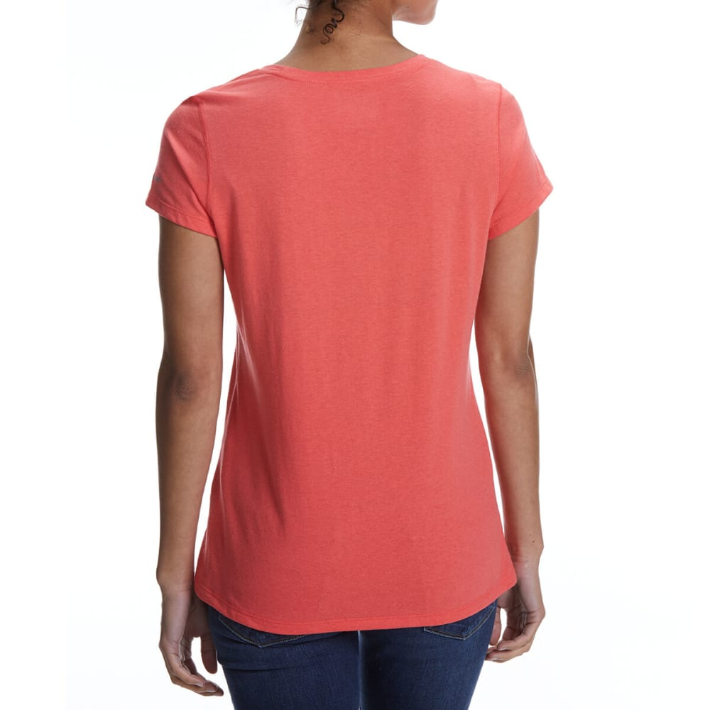COLUMBIA Women's Solar Shield Short-Sleeve Shirt - 633-RED CORAL