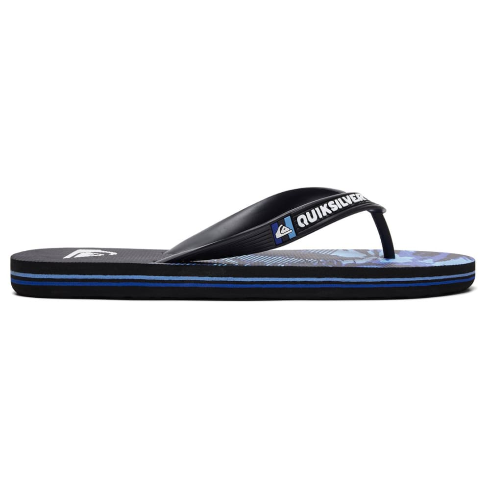 QUIKSILVER Boys' Molokai Night Marcher Flip-Flops - XKKB-BLACK/BLUE/BLUE