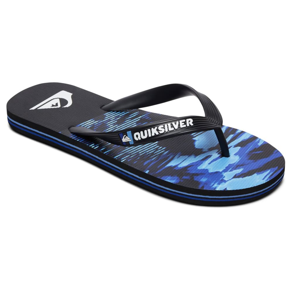 QUIKSILVER Boys' Molokai Night Marcher Flip-Flops - XKKB-BLACK/BLUE/BLUE