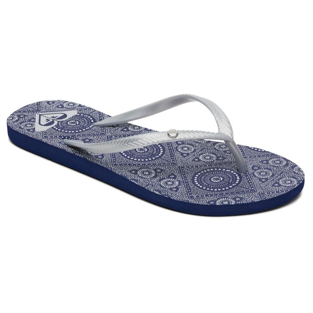 ROXY Women's Bermuda II Flip-Flops - BLA-DARK BLUE
