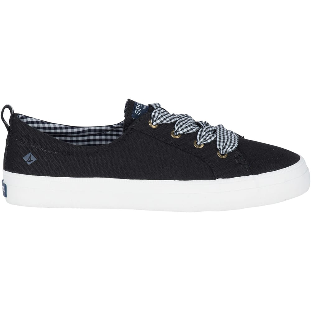 SPERRY Women's Crest Vibe Gingham Lace Sneakers - STS83779-BLACK