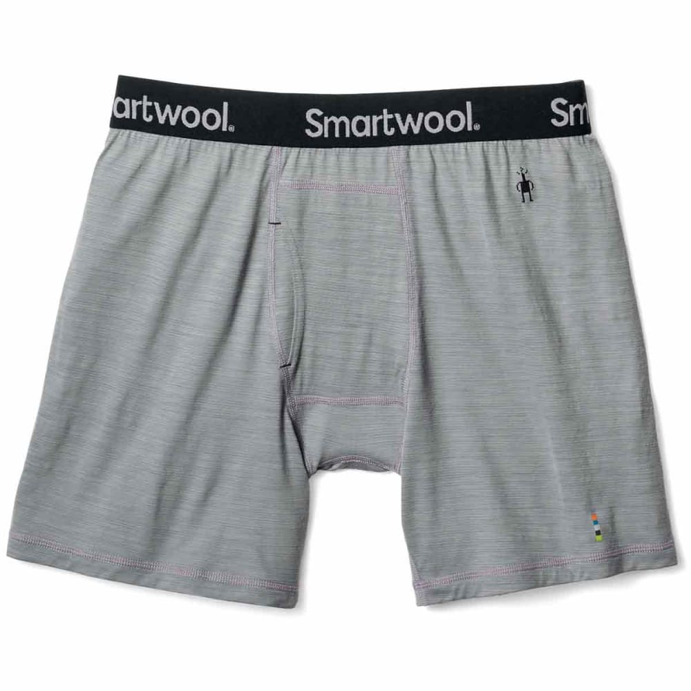 SMARTWOOL Men's Merino 150 Micro Stripe Boxer Briefs - 039-LIGHT GREY
