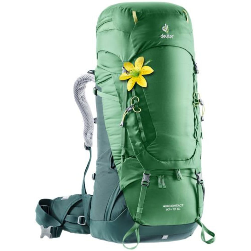 DEUTER Women's AirContact 60+10 SL Backpack - LEAF/FOREST