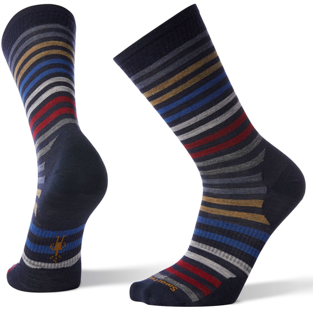 SMARTWOOL Men's Spruce Street Crew Socks - 092-DEEP NAVY