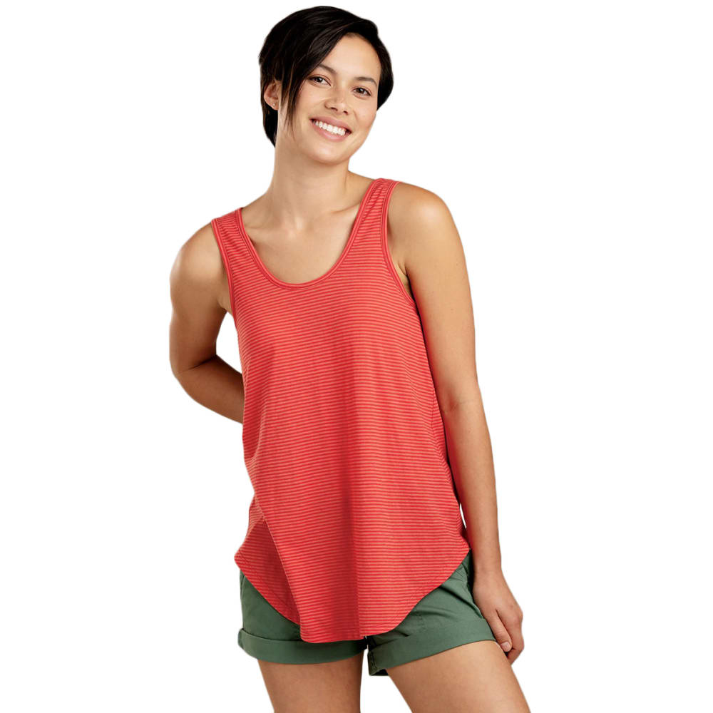 TOAD & CO. Women's Tissue Tie Tank - 639CORAL BLAZE STRIP