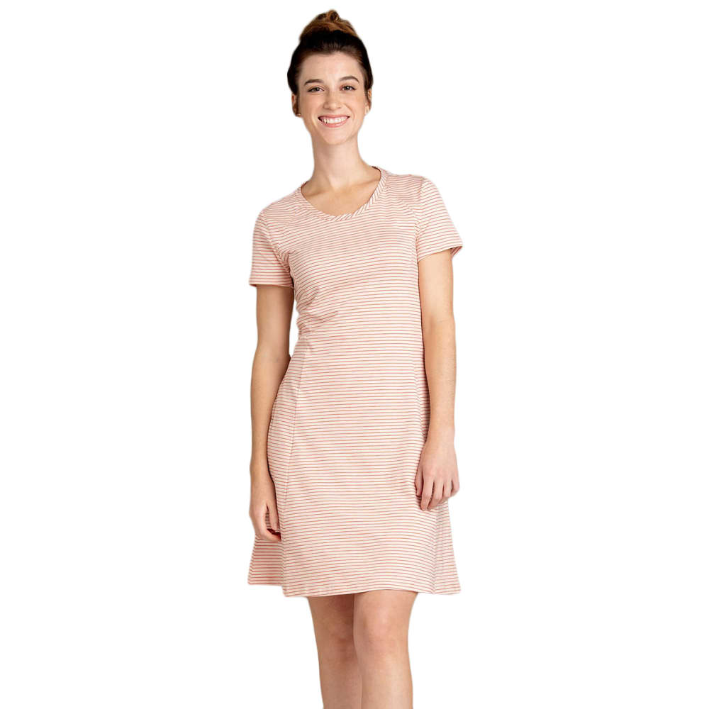 TOAD & CO. Women's Windmere Short-Sleeve Dress - 684-PINK SAND STRIPE