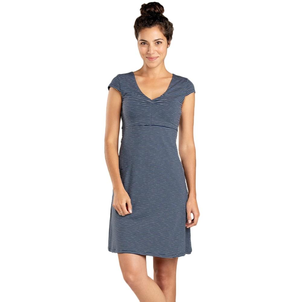 TOAD & CO. Women's Rosemarie Dress - 488-DEEP NAVY STRIPE