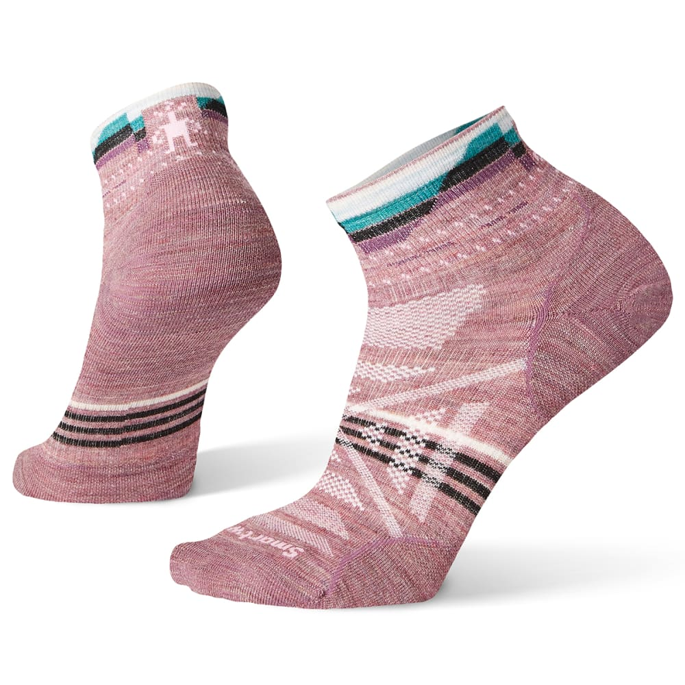 SMARTWOOL Women's PhD Outdoor Ultra Light Pattern Mini Socks - A32 - NOSTALGIA ROSE