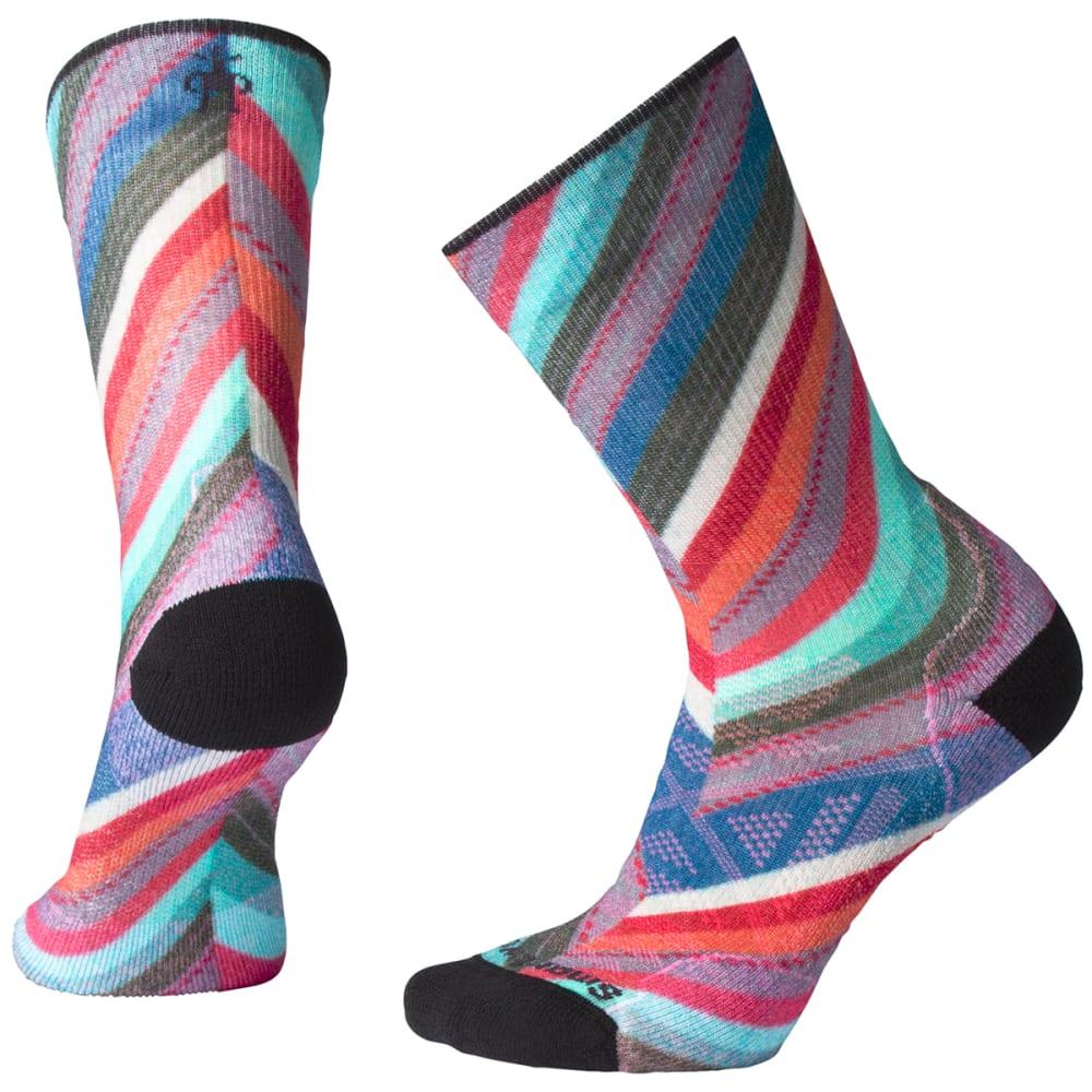 SMARTWOOL Women's PhD Outdoor Light Print Crew Socks - C51 - DEEP MARLIN