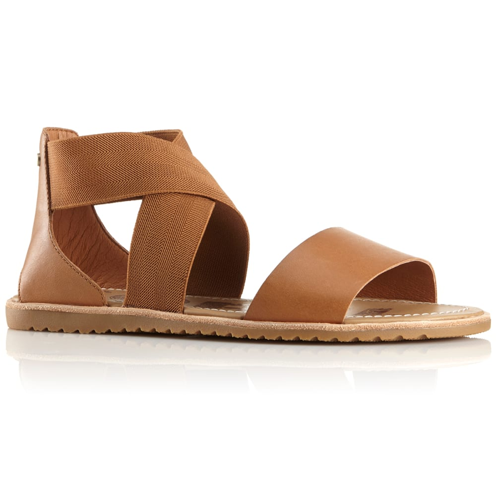 SOREL Women's Ella Sandals - CAMEL-225