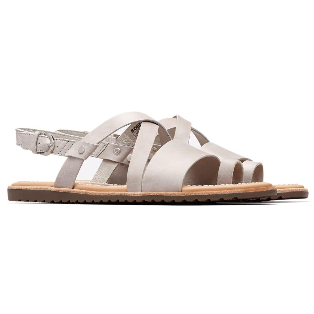 SOREL Women's Ella Criss Cross Sandals - 081-DOVE