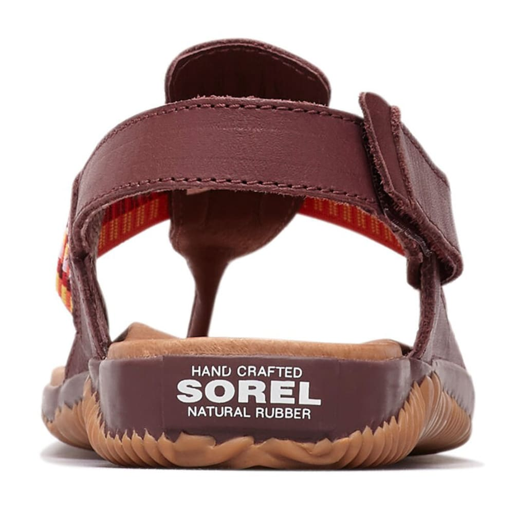 SOREL Women's Out and About Plus Sandal - 521-ELDERBERRY