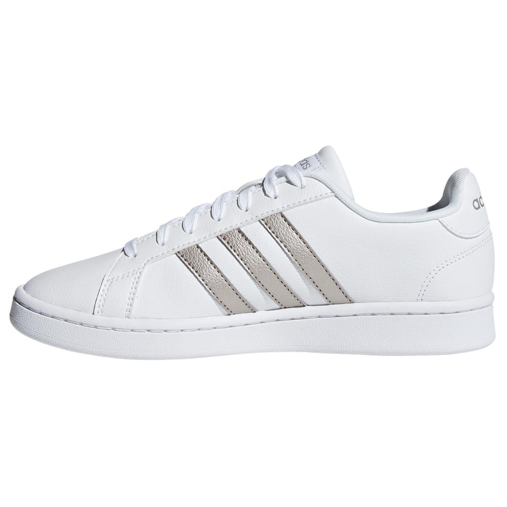 ADIDAS Women's Grand Court Sneakers - WHT/METALLIC-F36485
