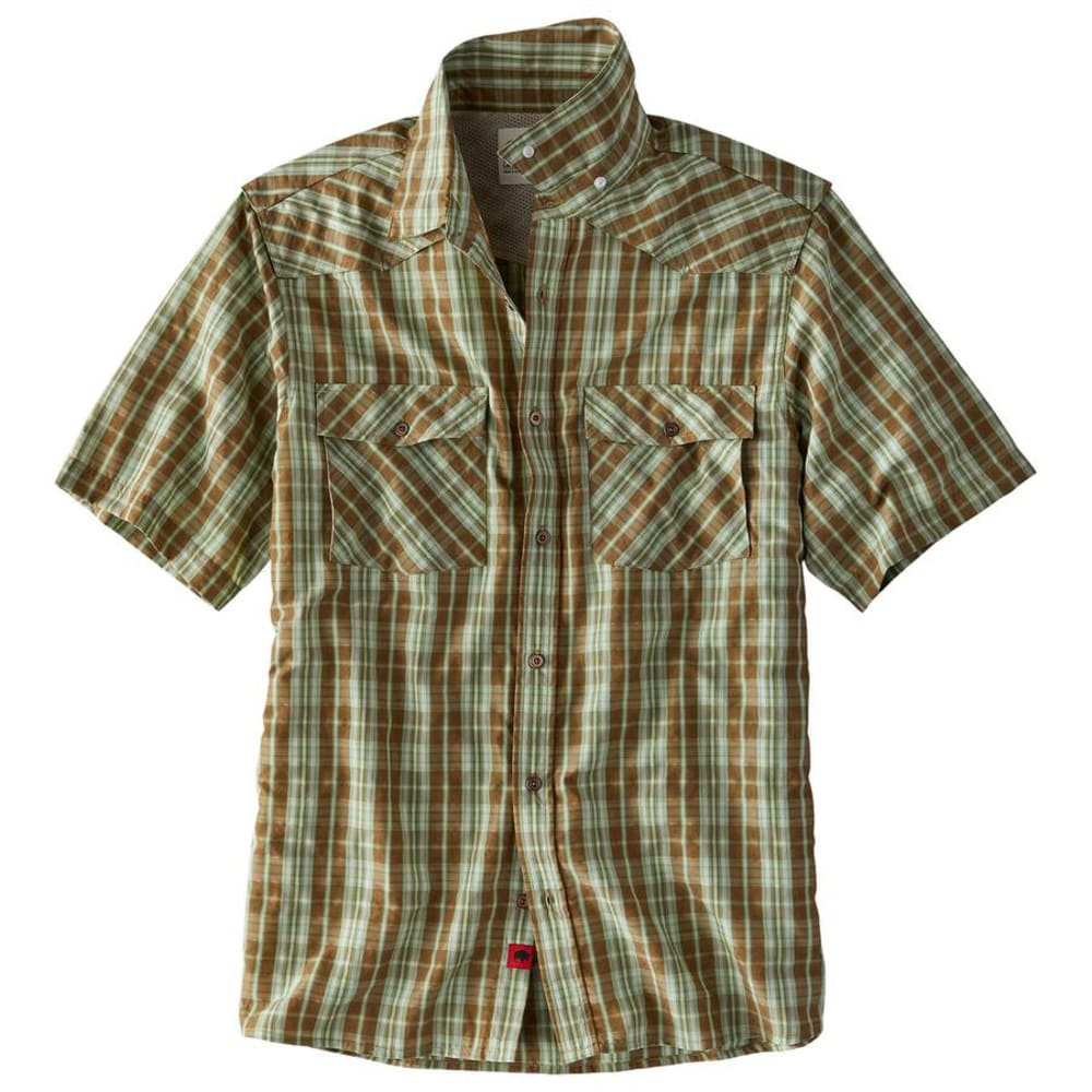 MOUNTAIN KHAKIS Men's Scrambler Short-Sleeve Shirt - 411-TOBACCO